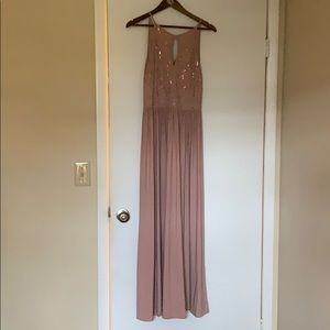 Blush prom or bridesmaid dress